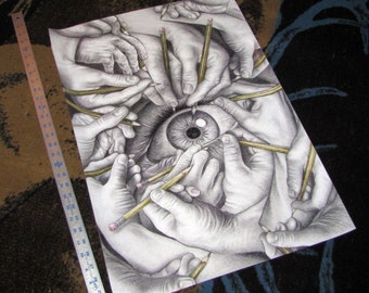 """Drawn To See, 19x27"""" Poster"""