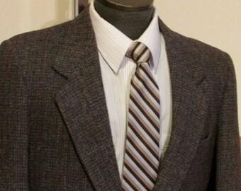 Vintage Mens Harris Tweed Jacket Mans Campus Tweed Blazer Mens Harris Tweed Sport Coat Size 38 Harris Tweed Multi Color Size 38 Harris Tweed