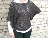 Crochet Pattern Clothing, Crochet Oversized Sweater Pattern,  Crochet Sweater, Crochet Clothing