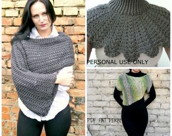 Free crochet pattern, Free crochet sweater pattern, Crochet pattern, Crochet shrug pattern, Crochet Cowl Pattern, Buy one get one free