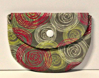 Rose Swirls Pacifier Pouch, Pacifier Pouch, Pacifier Holder, Coin Purse, Small Wallet, Card Holder, Small Wallet, Binky Pouch, Pacifier Case