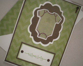 Handmade Baby Boy Card, Baby Shower Card, Baby Boy Congratulations, Baby Boy Card, Blue, Lion
