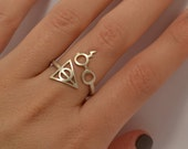 Wrap Ring Sterling Silver 925 Harry Potter Deathly Hallows Ring Lightning Scar Glasses Cool Teens Gift Idea Geek Rings