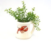 Vintage Kingswear Ivory Ceramic Mug w/Lobster (E327)