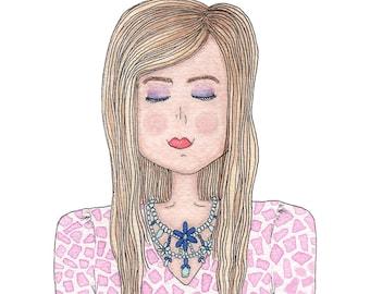 Custom Illustration - Head & Shoulders Portrait