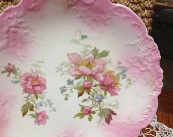 Pastel Floral Serving Plate