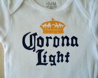Beer Belly Bodysuit, Corona Light Onesie, New Dad gift,Daddy's Drinking Buddy,Drinking onesie,  Funny Baby Shower Gift