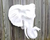 White Elephant Wall Mount - Faux Taxidermy EL01