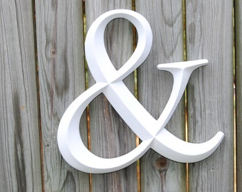 White Ampersand Sign - Large Wall Ampersand - Wedding Decor - Gallery Wall Decor - Photo Prop - Anniversary Gift AND01
