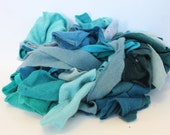 Recycled Cashmere Remnants - Aquas/Blues 16oz