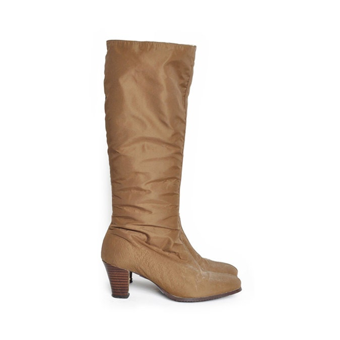 light brown sherpa lined knee high boots size 7