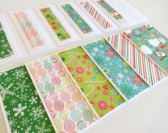 Christmas Blank Note Cards, Set of 6 Blank Note Cards with Matching Envelopes, Note Cards, Christmas Card Set, Winter Wonderland