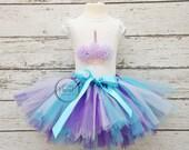 purple and turquoise tutu, girls first birthday tutu outfit, girls tutu, first birthday outfit, baby tutu, girls tutus, 1st birthday tutu,