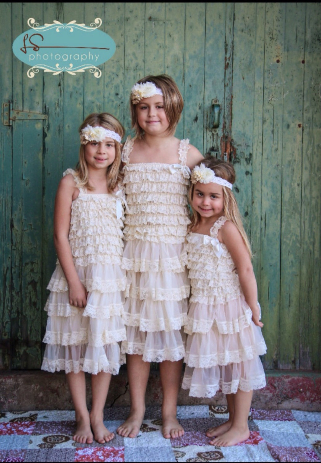 Lace rustic vintage flower girl dresses shabby chic lace girl
