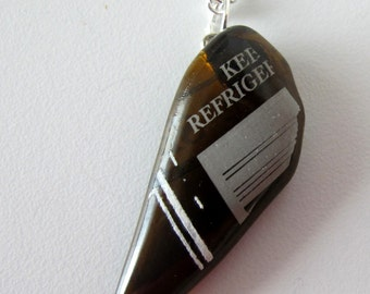 Recycled Beer Bottle Jewelry - Keep Refrigerated