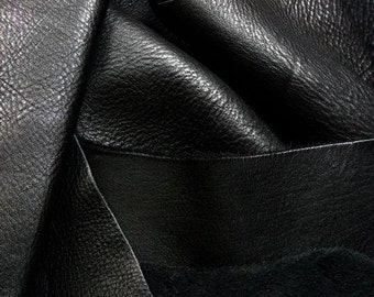 Cow leather/460 grams - 1 lb.Leather Pieces.Black/Genuine leather.For accessories,jewelry,decorations,bracelets... Cowhide