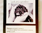 Rescue, it's not just a verb, it's a promise  Greeting Card