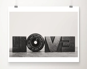 camera photograph black and white photograph romantic print camera lens photo love photograph love print hipster style