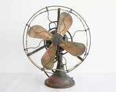 Vintage GE Brass Blade Electric Fan