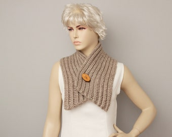 Crochet Neckwarmer scarf , knited colar scarf , woman scarf , gift  ,knitting  scarf ,crochet scarf with open buttons