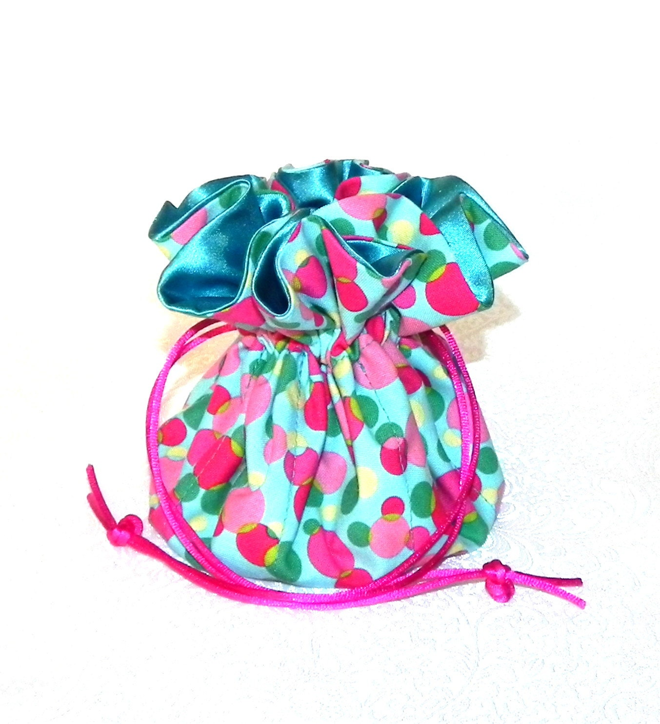Drawstring jewelry bag pouch jewelry organizer by for Drawstring jewelry bag pattern