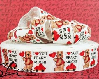 "1""  Valentines Grosgrain Ribbon"