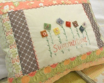 Summertime pillow kit...using Fig Tree fabrics and designed by Mickey Zimmer