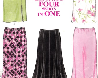 "Mini Skirt Flared Fitted Skirt in Knee Length Size 8-18  Waist 24-32 Hip 33.5-42"" New Look 6118  Womens Sewing Pattern"