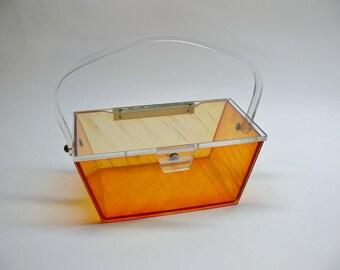Vintage 1950's lucite box purse