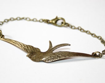 Swallow Bracelet bronzecolored - Cute Friendship Gift Special Friend sister girlfriend mother daughter gift