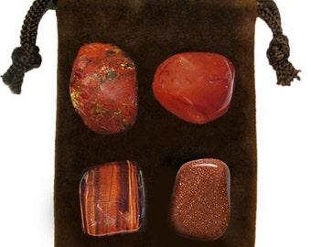 ENERGY/DRIVE - Meditation Stone Set Crystal Healing Gemstone Kit