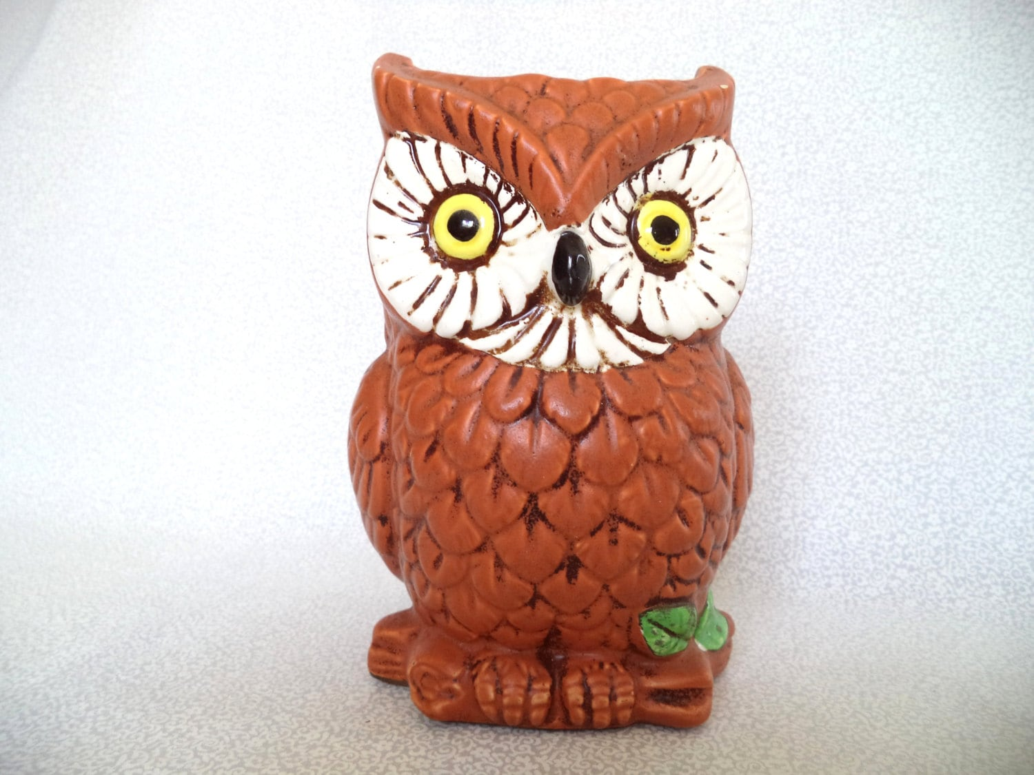 Glass Owl Vase Vintage Brown Owl Vase Ceramic Owl Relpo Owl
