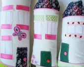 House-shaped pillows, tooth fairy pillows, learning pillows
