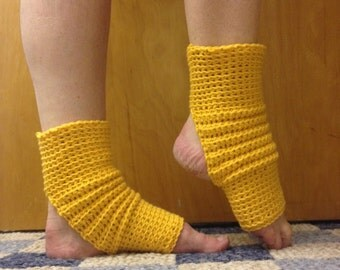 Yoga Socks in Gold Cotton  US Grown