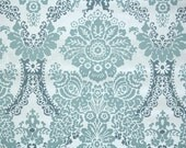 Retro Flock Wallpaper by the Yard 70s Vintage Flock Wallpaper - 1970s Blue Flock Floral
