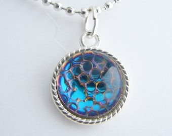Sparkling Snakeskin Mosaic Pendant with Free Necklace