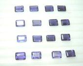 10Pc AAA Quality  Blue Iolite Rectangular Cut Stone 6x8mm Wholesale Price