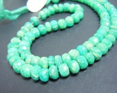8 inches strands-top grade high quality green amazonite faceted roundelle beads size-8 to 10mm approx
