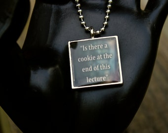 Literary Pendant - Book Quote - Kate Daniels Series - Themed Jewelry - Lecture - Sarcasm - Personalized - Author Swag - Resin Pendant