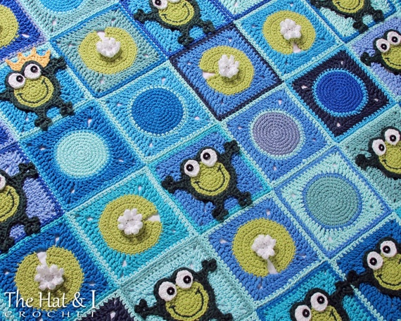 crochet pattern frog frenzy a frog afghan pattern crochet. Black Bedroom Furniture Sets. Home Design Ideas