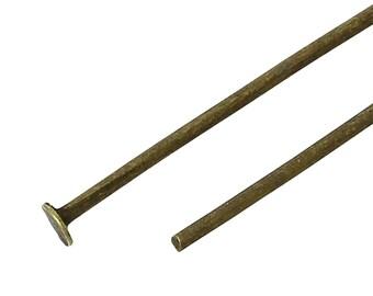 "500 Bronze Flat Head Pins for jewelry making, 2-3/4"" long, 20ga, pin0075"