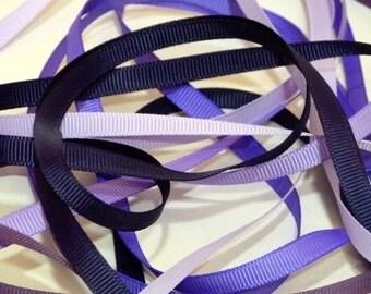 Purple Shades 6mm Plain Grosgrain Ribbon