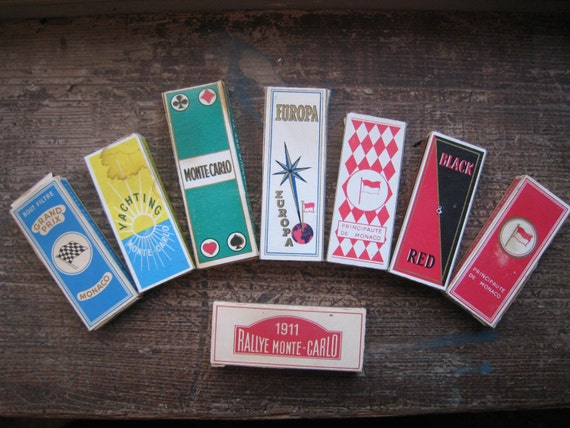 Vintage Unused French Cigarettes from Monaco 8 Boxes