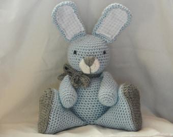 Crocheted Bunny/Stuffed Rabbit/Baby Keepsake/Stuffed Animal