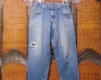 "570 Levis Vtg 80's High Waisted baggy fit Denim Jeans  Waist 34"" x 33"" inseam"
