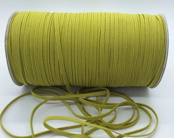 "1/8"" Skinny Elastic celery Green #606C FOE skinny thin 1/8"" inch Baby Headbands - 5 yards  Skinny Elastic 4mm"
