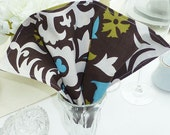 Dinner Napkins - Set of 4 - Suzani Brown Fabric Dinner Napkins