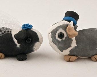 Adorable Guinea Pigs Wedding Cake Topper