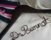 Graduating Doctor's Gifts, Personalized Lab Coat Hanger, Male or Female Doc Presents Doctor's Day Gift