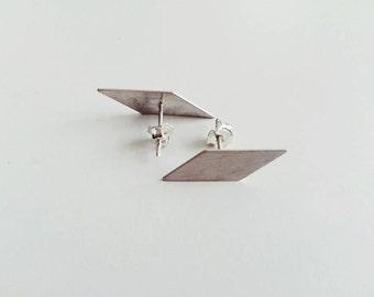 geometric earrings -minimalist earrings -sterling silver geometric earrings